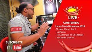 CHILIS LIVE LUNES 10 DICIEMBRE 2018