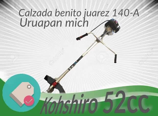Ventas Kohshiro Uruapan - Desbrozadora kohshiro 52cc Teléfono 33-22-06-55-39 #kohshiroupn  Ideal para huertas césped arreglar su jardin  Con garantía de 3 meses sobre defecto de fábrica incluye arnés cuchilla cabezal bolsa de herramienta somos distribuidores oficiales contamos con todas las refacciones. | Facebook