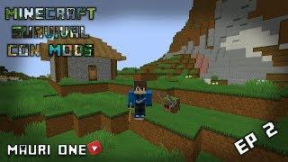 Mi nueva MASCOTA (esclavo) |Minecraft Survival CON MODS ep 2 | MauriOne