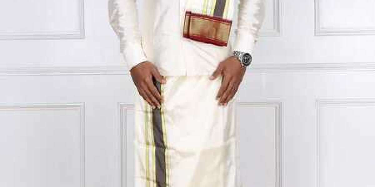 Silk and Cotton Dhotis